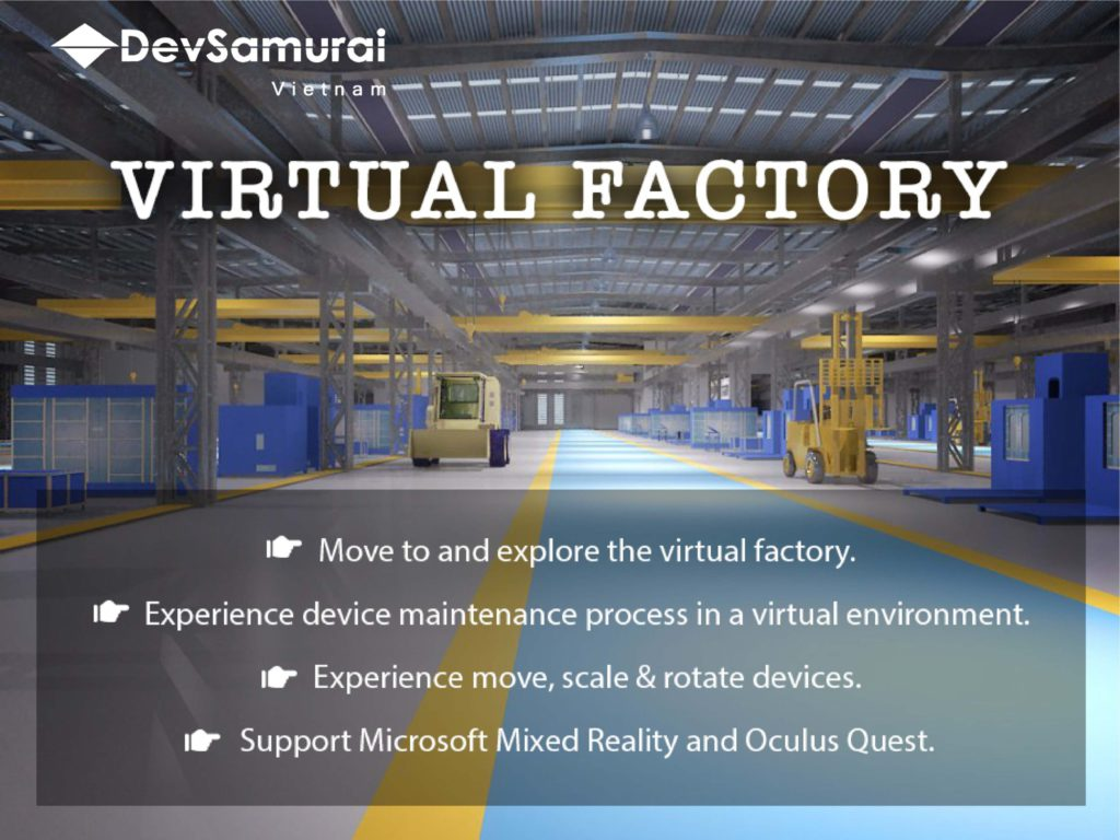 AR VR ヘッドセットを利用する製造工場オペレーター